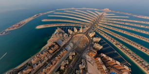 Palm Jumeirah in Dubai, United Arab Emirates (© AirPano)