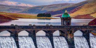 Craig Goch Dam in the Elan Valley, Wales (© Joe Daniel Price/Getty Images)