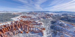 Bryce Canyon National Park in winter, Utah (© AirPano)
