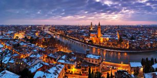 Verona, Italy, along the Adige River (© Franco Cogoli/4Corners Images)