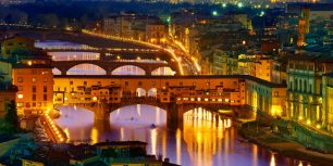 Ponte Vecchio, a bridge over the Arno River in Florence, Italy (© Sylvain Sonnet/Corbis)