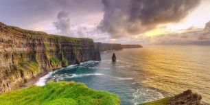 Cliffs of Moher at sunset, County Clare, Ireland (© Patryk Kosmider/Shutterstock)