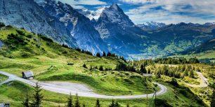 View of the Eiger from the Grosse Scheidegg mountain pass, Switzerland (© SIME/eStock Photo)