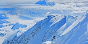 Climbers ascend Mount McKinley in Denali National Park and Preserve, Alaska (© Luke Humphrey)