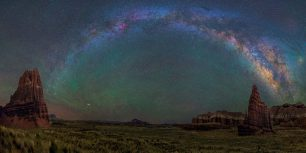 The Milky Way over Capitol Reef National Park in Utah (© Dave Lane/NASA)