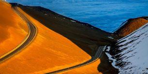 The road up Mauna Kea on the Big Island of Hawaii (© Gary S. Chapman/Shutterstock)