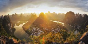 Xingping on the Li River in Guangxi, China (© naes/Getty Images)