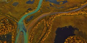 Rapa River delta in Sarek National Park, Sweden (© George Steinmetz/Corbis)