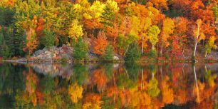 Autumn at George Lake, Ontario, Canada (© pavels/Shutterstock)