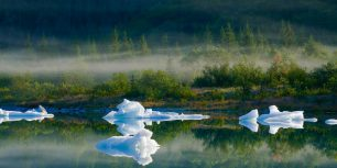 Bear Glacier Lake in Kenai Fjords National Park, Alaska (© Michael DeYoung/age fotostock)