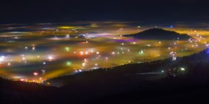 Fireworks and fog in Salzburg, Austria (© Franz Pritz/Getty Images)