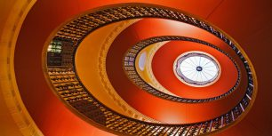Interior view of a skylight in Willersley Castle, Cromford, Derbyshire, England (© Design Pics/plainpicture)