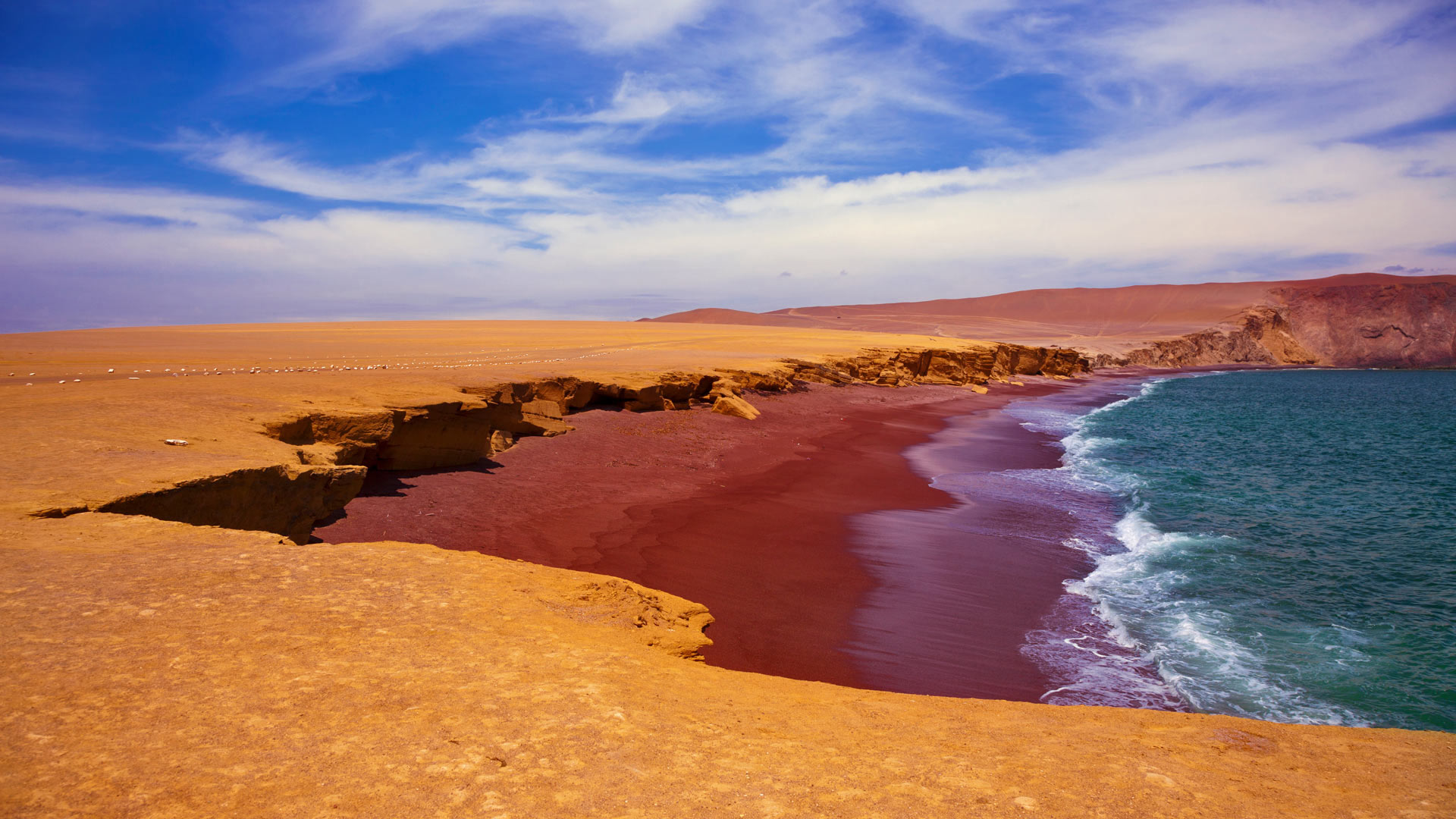 Playa Roja in Paracas National Reserve, Peru (© Istvan Kadar Photography/Getty Images)