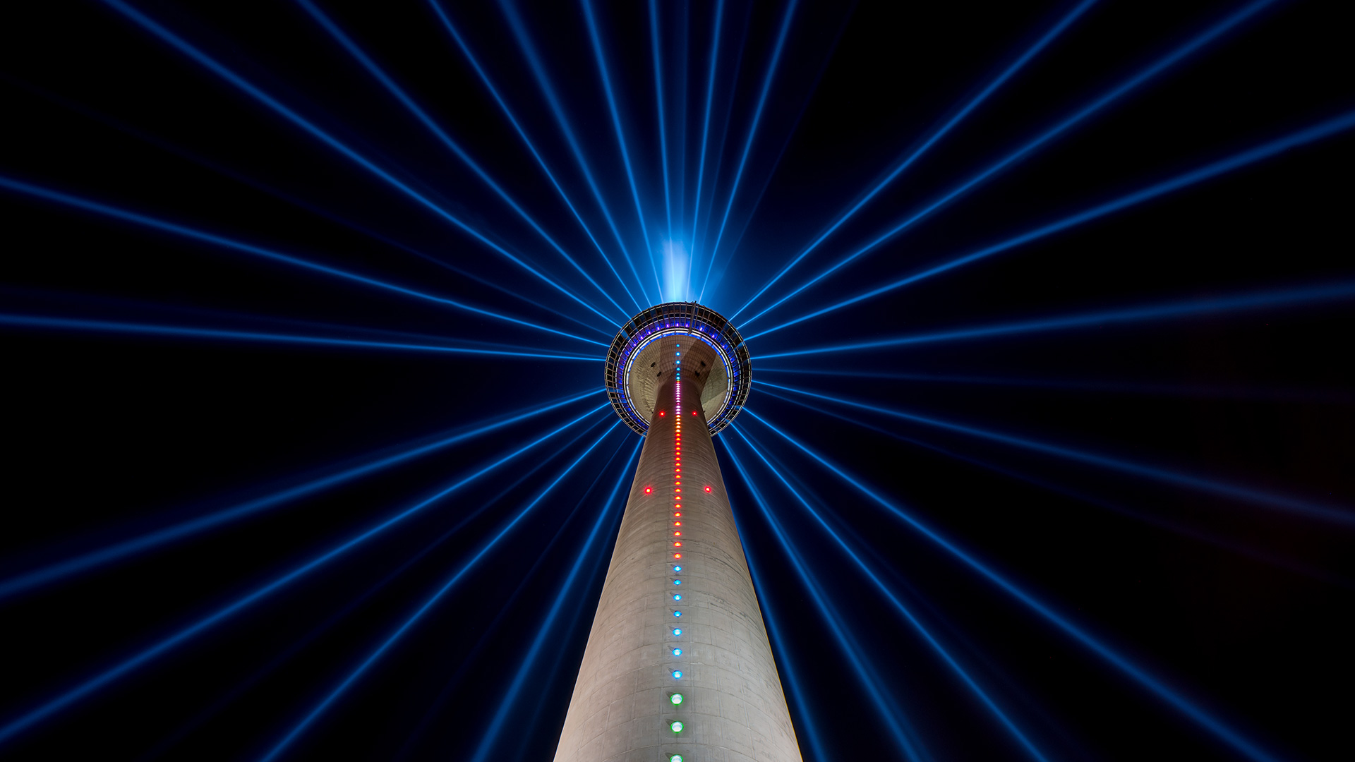 TV Tower Dusseldorf at night, Germany (© r.classen/Shutterstock)