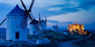 Windmills in Consuegra, Castilla-La Mancha, Spain (© Juan José Pascual/age fotostock)