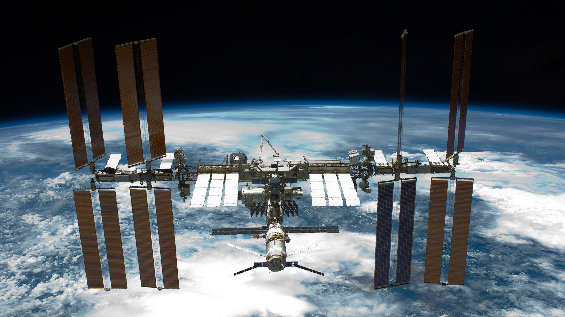The International Space Station seen from the space shuttle Endeavour (© NASA/Alamy)