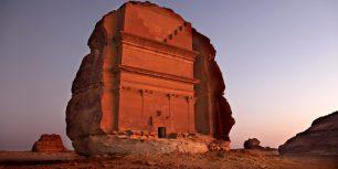 Mada'in Saleh archeological site in Saudi Arabia (© Bruno Zanzottera/Aurora Photos)