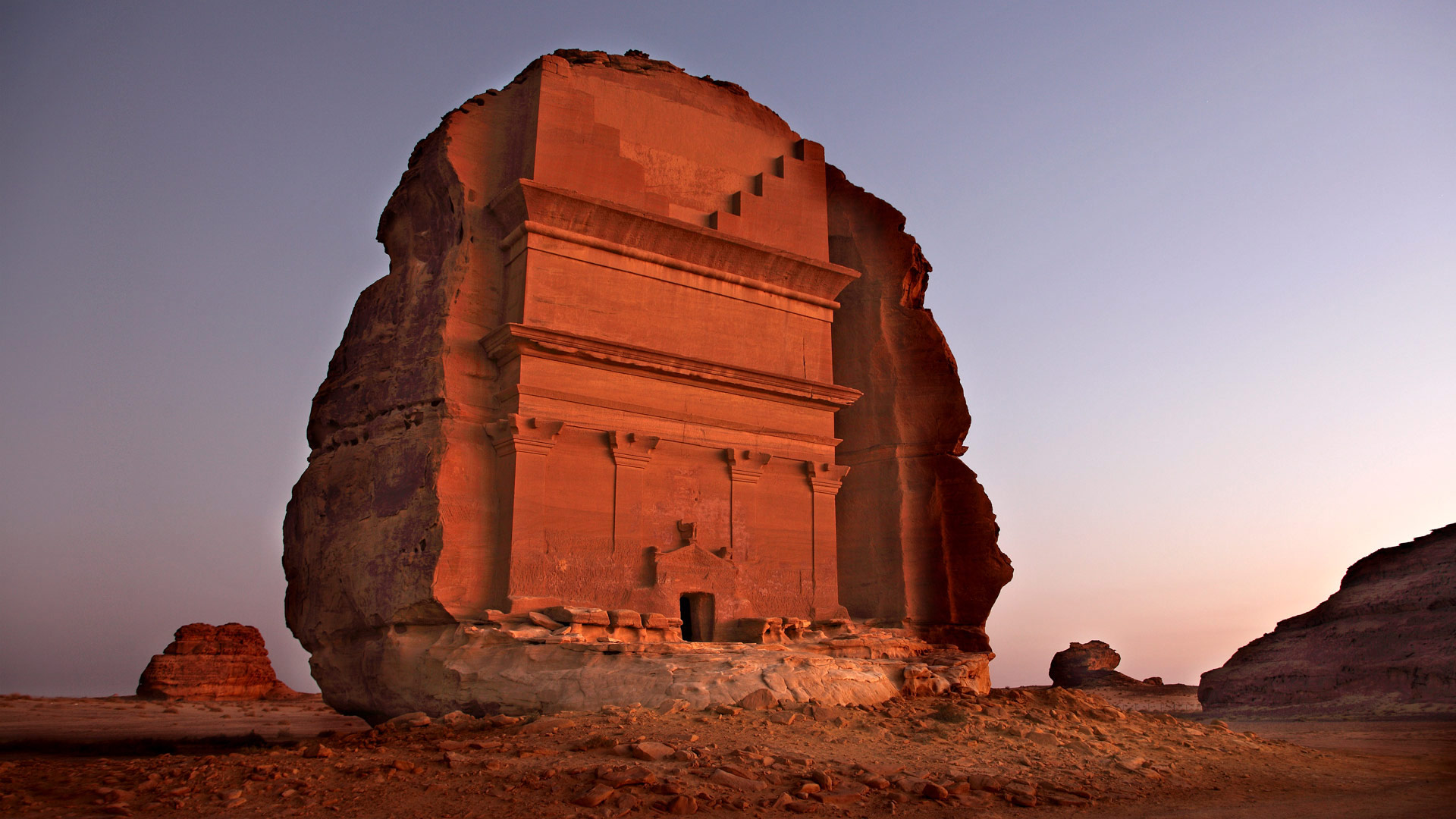Mada'in Saleh archeological site in Saudi Arabia (© Bruno Zanzottera/Aurora Photos)