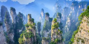 Zhangjiajie National Forest Park in Hunan Province, China (© aphotostory/Shutterstock)