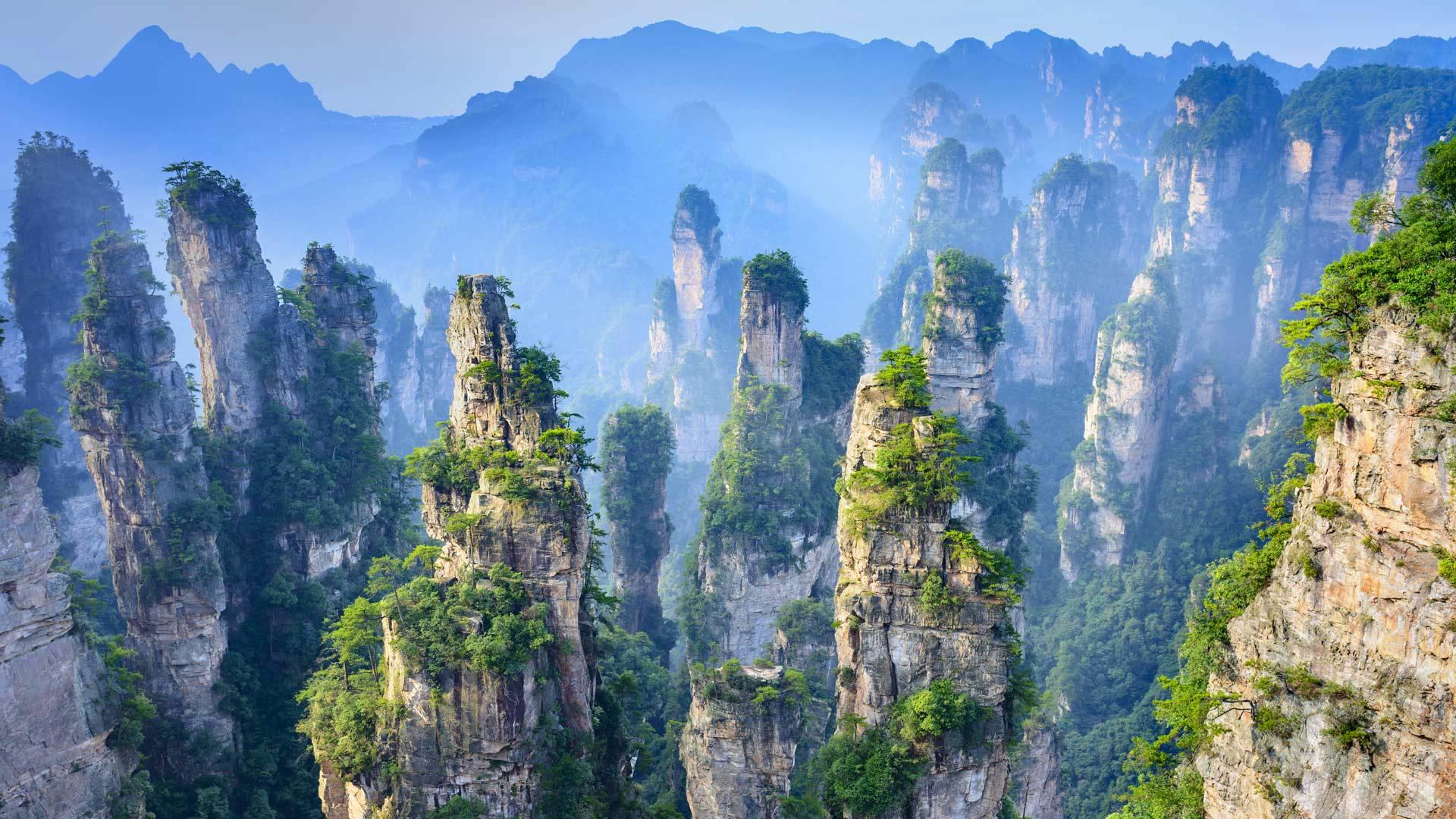 Zhangjiajie National Forest Park in Hunan Province, China (© aphotostory/Shutterstock)