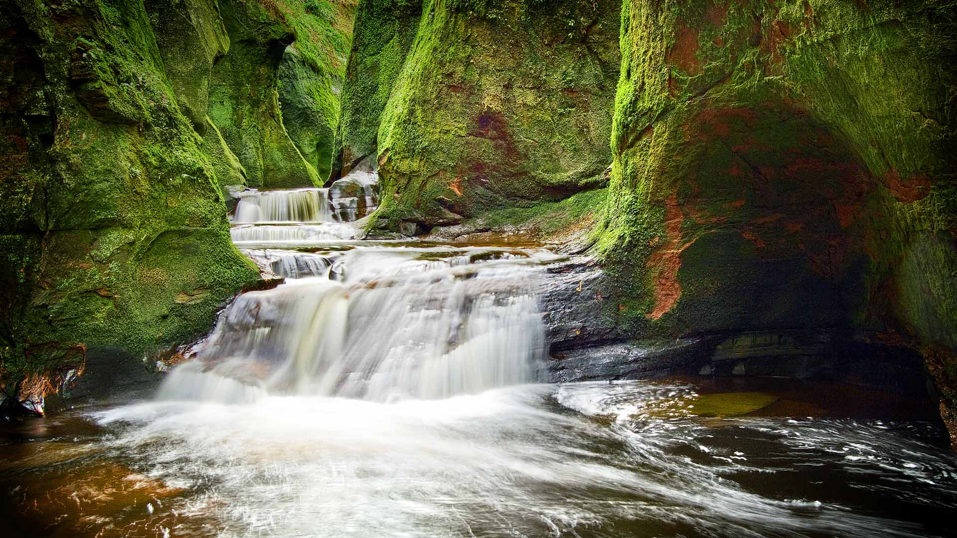 Finnich Glen in Stirlingshire, Scotland (© Damian Shields/Offset)