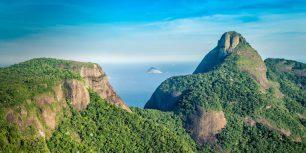 Aerial view of Rio de Janeiro's Pedra da Gávea Mountain, Brazil (© marchello74/Getty Images)