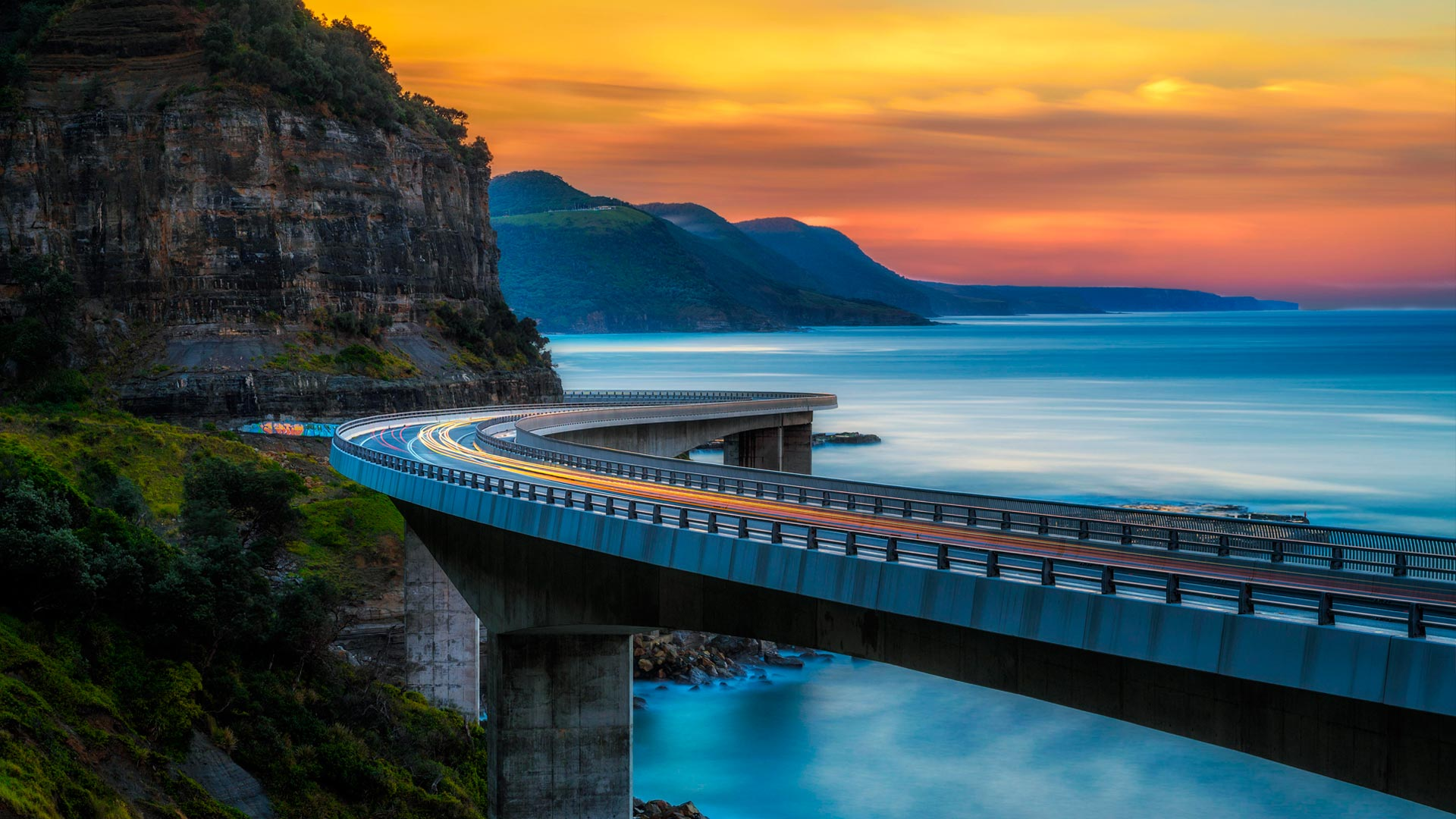 Sea Cliff Bridge, near Sydney, Australia (© Nick Fox/Alamy)